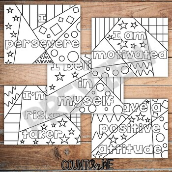 Growth Mindset Inspirational Coloring Pages BUNDLE by