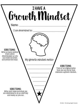 Growth Mindset Pennant Banner by The Daring English