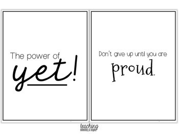 75 Printer Friendly Growth Mindset Posters by Teaching