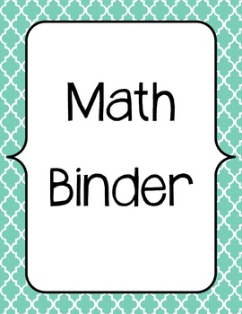 Guided Math Binder and Planning Template by CindyLou  TpT