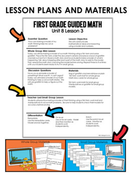 Guided Math Lessons: First Grade Unit 8 Mixed Review by