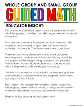 Guided Math Second Grade Unit 7 Money, Coins, Personal