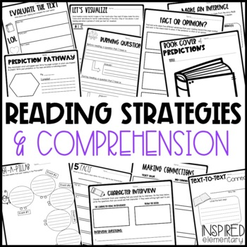 Guided Reading Comprehension Pages & Book Activities! by