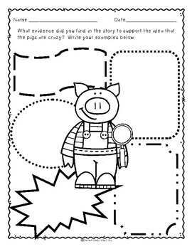 Two Crazy Pigs, Guided Reading Lesson Plan, Level I by