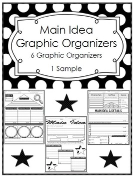 Main Idea & Details Graphic Organizers by Motivated