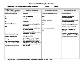 Guided Reading Plus Lesson Plans For Rigby Pm Plus Level 1