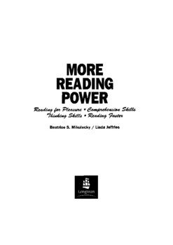 Guided Reading Reading Power: Reading Faster, Thinking