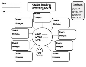 Guided Reading Recording and Observation Sheets by Klever