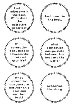 Guided Reading and Literacy Circle question cards by Oh
