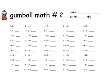 Gumball Math for 2nd Grade New York State Common Core