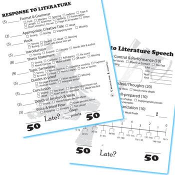 HATCHET Essay Prompts & Grading Rubrics (by Gary Paulsen