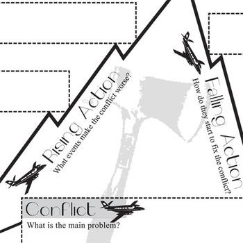 HATCHET Plot Chart Organizer Diagram Arc (by Gary Paulsen