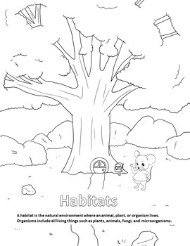 Habitats Coloring Page by Reek Rufus Reading STEM and More