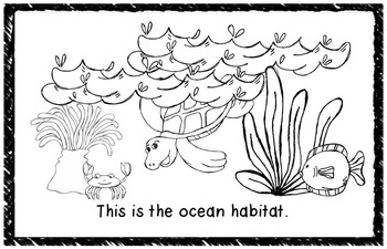 Habitats Mini Books: Set of 9 Easy Readers by Clip Art by