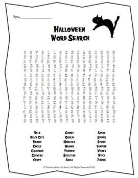 Halloween Activities Packet With 10 Activities by Teaching
