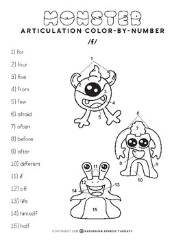 Halloween Articulation Color-by-Number Monsters by
