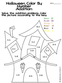 Halloween Color By Numbers (Addition and Subtraction) by