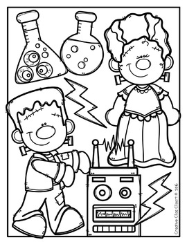 Halloween Coloring Pages {Made by Creative Clips Clipart