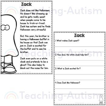 Halloween Reading Comprehension Passages by Teaching
