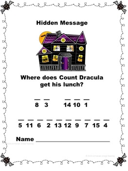 Halloween Math Review Scavenger Hunt Game Comparing