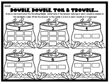 Halloween Divisibility Rules + Problem Solving (Grades 4-5