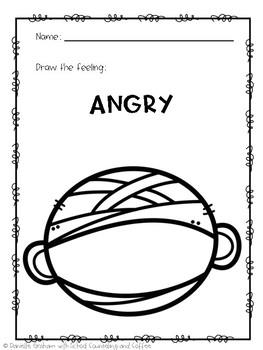 Halloween Draw-a-Feeling Elementary School Counseling