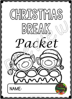 Christmas Packet: Second Grade Christmas Break Packet by
