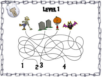Halloween Escape Room Math: Two Digit Multiplication Game
