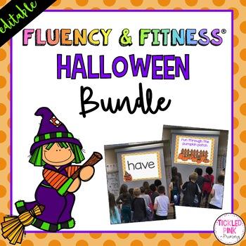 Halloween Fluency Fitness Editable Brain Breaks By Tickled Pink In Primary