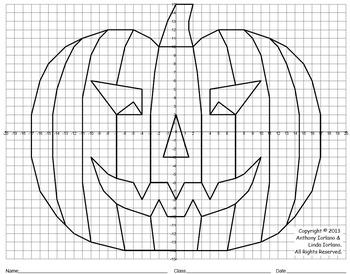 Plotting Point High School Worksheets For Halloween