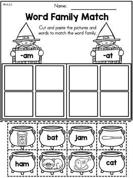 Halloween Kindergarten Language Arts Worksheets by United