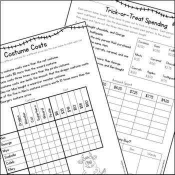 Halloween Math Logic Puzzles {Halloween Activities for