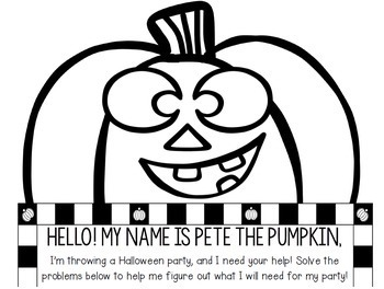 Halloween Activities: Multi-Step Word Problem Math for