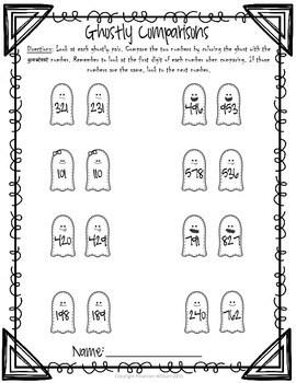 Halloween Math Packet Grade 2 by Keeping Teaching Fabulous