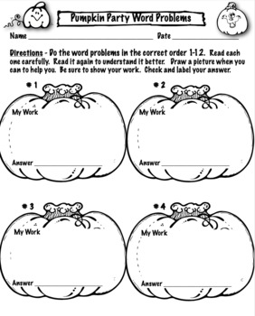 Halloween Math Word Problems For 2nd Grade: Common Core