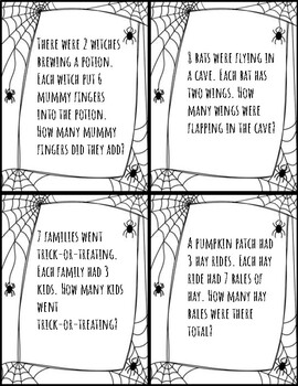 Halloween Multiplication Word Problems by Tricked Into