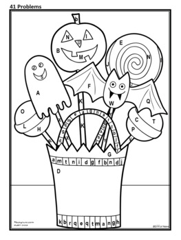 Halloween Pops Color and Solve: Integers(add/subtract