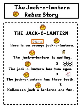 Kindergarten / First Grade Halloween Rebus Stories by A