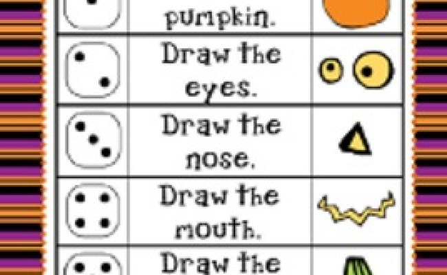 Halloween Roll And Draw A Jack O Lantern 2 Games In 1 By