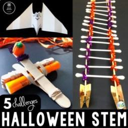 Halloween STEM Challenge Activities Bundle