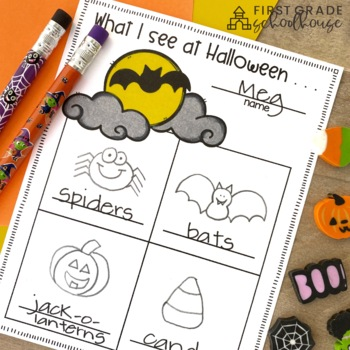 Halloween Writing for Kindergarten by First Grade
