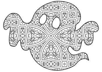 Halloween Zentangle & Mandala Coloring Pages- Halloween