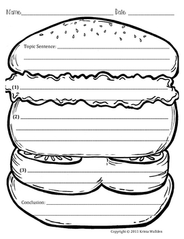 Hamburger Paragraph Picture Template by Krista Wallden