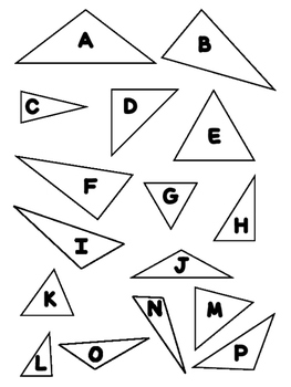 Types of Triangles Classifying Triangles Activity Types of