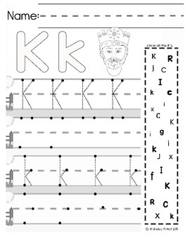 Big Line Letter Handwriting Practice Sheets by Shelley