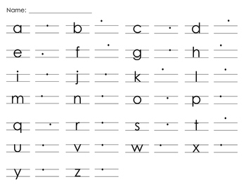 Handwriting Without Tears Style Alphabet Printing Practice