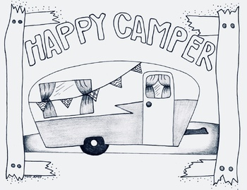 camping coloring page # 20