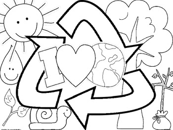 Happy Earth Day! Coloring Sheets by Elementary Nerd by