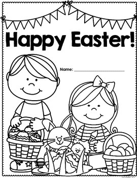 Happy Easter: Math & Literacy workbook/activity pages by
