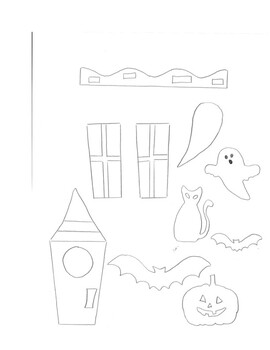 Happy Halloween Haunted House Paper Bag craft kids project